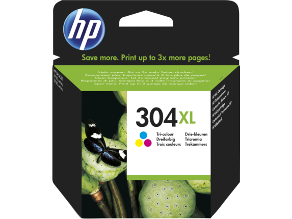 HP N9K07AE tindikassett No. 304XL
