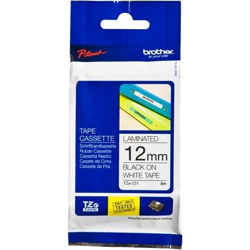 Brother TZE-231 laminated tape must on white 12mm*8m on kvaliteet tootja Brother toode. Selle tootja Film on ideaalseks lahenduseks kõigile Brother printeri või toodangu kasutajatele. Sobivuselt saab ridade vahelt lugeda
